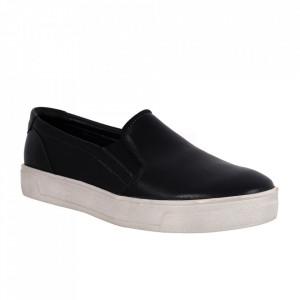 Pantofi din piele naturală cod 80-9 Black