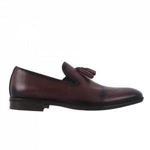 Pantofi din piele naturală cod 940 Bordo