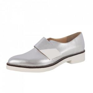 Pantofi din piele naturală cod ARG Silver