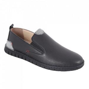 Pantofi din piele naturală pentru bărbați cod 21910 Siyah