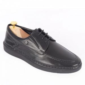 Pantofi din piele naturală pentru bărbați cod 300 Negru