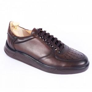 Pantofi din piele naturală pentru bărbați cod 330 Maro