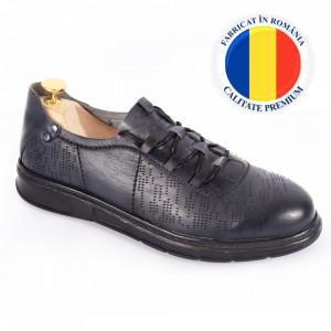 Pantofi din piele naturală pentru bărbați cod 331 Gri
