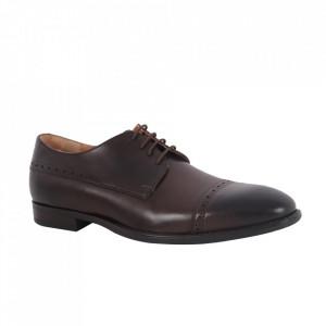 Pantofi din piele naturală pentru bărbați cod 510 Mogano