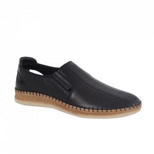 Pantofi din piele naturală pentru bărbați cod 85028 Siyah