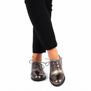 Pantofi pentru dame cod F26 Guncolor - Pantofi pentru dame, din piele ecologică cu închidere prin șiret - Deppo.ro