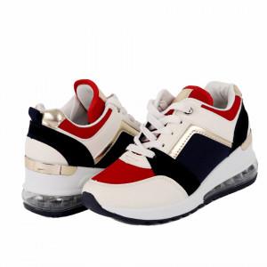 Pantofi Sport cod B-11 Albi - Pantofi sport albi din material textil și piele ecologică respirabil cu vârf rotund și talpă din silicon flexibilă si confortabilă - Deppo.ro