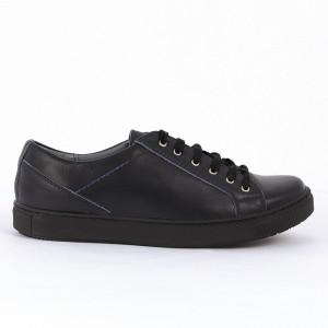 Pantofi sport din piele naturală bleumarin Cod 1258 - Pantofi damă din piele naturală  Foarte confortabili cu un tălpic special care conferă lejeritate chiar și în cazurile în care petreci mult timp stând în picioare. - Deppo.ro