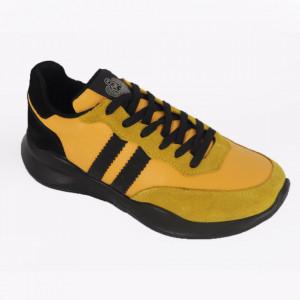 Pantofi sport din piele naturală întoarsă pentru bărbați cod 101 GAL