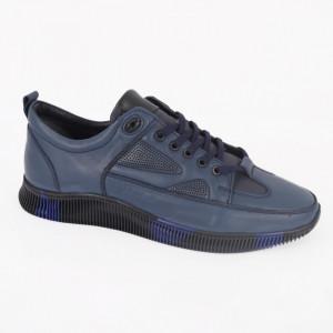 Pantofi Sport din piele naturală pentru bărbați cod 1052 Bleu