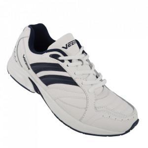 Pantofi sport din piele naturală pentru bărbați cod 5106-1 White/Blue