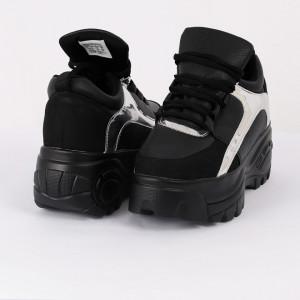 Pantofi Sport Izabelle Cod 459 - Pantofi sport din piele ecologică cu platformă  Model cu piele ecologică lăcuită  Foarte comfortabili - Deppo.ro