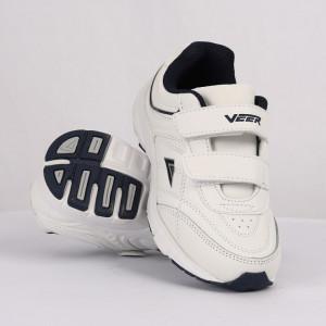 Pantofi sport pentru băieți cod 90232 Albi cu albastru
