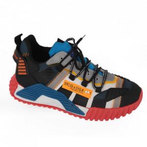 Pantofi Sport pentru bărbați cod A58-2 Blue - Pantofi sport pentru bărbați foarte comozi, ideali pentru ieșiri si practicarea exercitiilor în aer liber - Deppo.ro