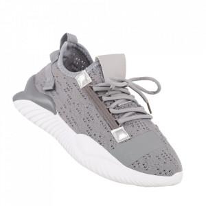 Pantofi sport pentru bărbați cod A802 Grey