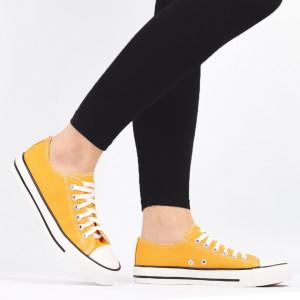 Pantofi sport pentru dame Cod TEN85 Yellow