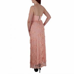 Rochie Macie Roz - Rochie lungă roz, elegantă potrivită pentru orice ocazie cu modele florale deosebite,simte-te atrăgătoare purtând această rochie și strălucește la urmatoarea petrecere. - Deppo.ro