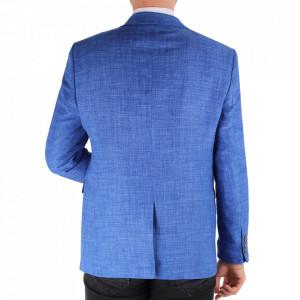 Sacou SC-154 Blue - Ideal pentru o ținută casual de zi care poate fii purtat atât cu cămașă cât și cu helancă - Deppo.ro