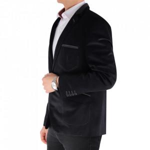 Sacou SC-175 Black - Ideal pentru o ținută casual de zi care poate fii purtat atât cu cămașă cât și cu helancă Compoziție: 85% bumbac, 15% polyester - Deppo.ro