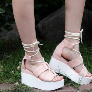 Sandale cu platforma cod KFL 820 Pink