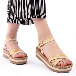 Sandale cu platformă cod Z25 Beige