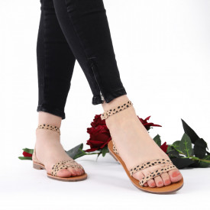 Sandale cu talpă joasă cod M35 Biege