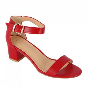 Sandale din piele ecologică cod OD0101 Red