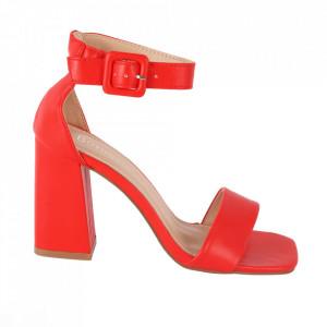 Sandale din piele ecologică cod OD0228 Red PU