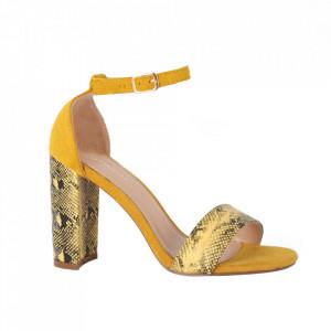 Sandale din piele ecologică cod OD341 Yellow