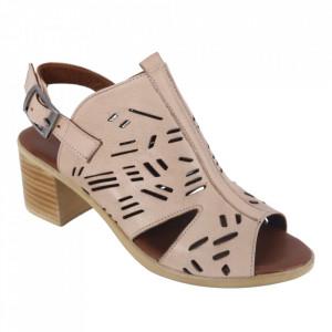 Sandale din piele naturală cod 034 Beige