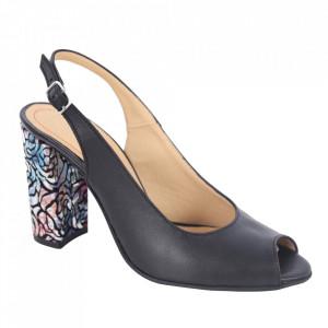 Sandale din piele naturală cod 1068 Negru
