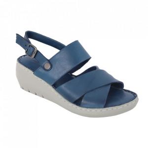 Sandale din piele naturală cod 240 Blue