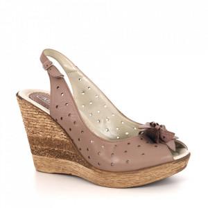 Sandale din piele naturală cod 320/5 Bej