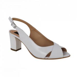 Sandale din piele naturală cod 333 White