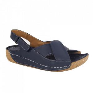 Sandale din piele naturală pentru dame cod 374 Blue