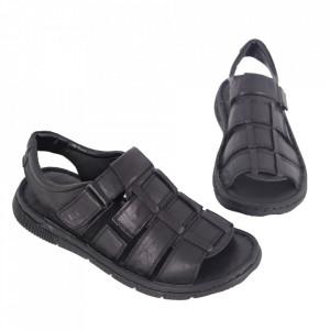Sandale pentru bărbaţi cod 1763 Black - Sandale pentru bărbaţi Închidere cu scai Calapod comod - Deppo.ro