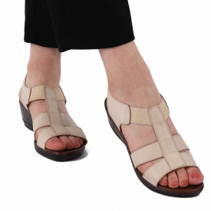 Sandale pentru dame cod 517317 Bej