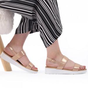 Sandale pentru dame cod 63136 Champagne