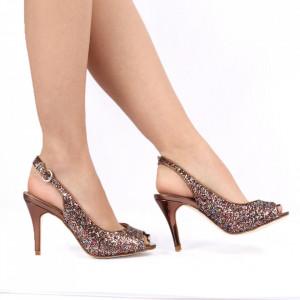 Sandale pentru dame cod 88555 BRONZE