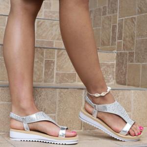 Sandale pentru dame cod B76 Silver
