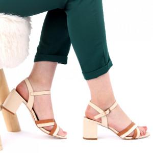 Sandale pentru dame cod CD03 Beige
