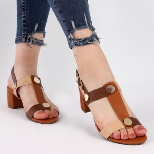 Sandale pentru dame cod J42 Camel