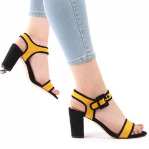 Sandale pentru dame cod Z05 Yellow
