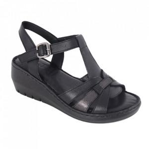 Sandale pentru dame din piele naturală cod 244 Siyah
