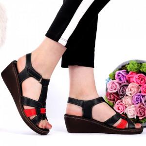 Sandale pentru dame din piele naturală cod 826 Black