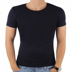Tricou pentru bărbați cod 4101 Bleumarin