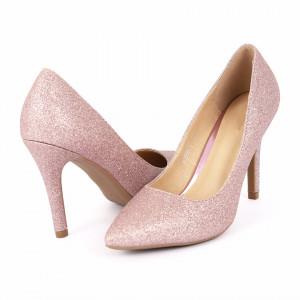 Pantofi cu toc cod A55053 Roz