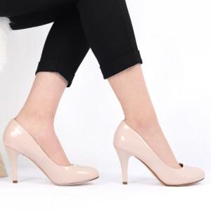 Pantofi cu toc pentru dame cod SA17 Beige