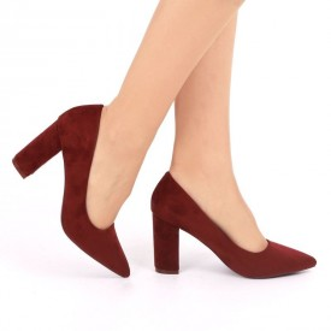 Pantofi cu toc cod OD0001 Vișini
