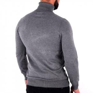 Bluză Maximilian Black Grey - Bluza simplă este cel mai versatil articol vestimentar din sezonul rece, o piesă cu reputaţie a stilului casual având compoziţia 81% Viscoză şi 19% Nailon - Deppo.ro